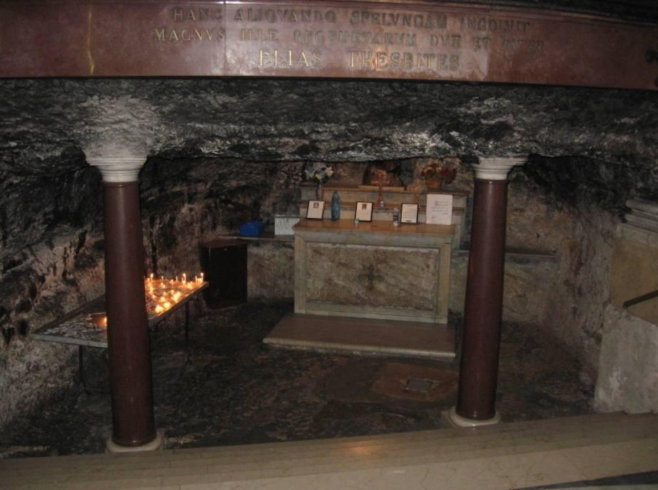 Grot van Elia in het Karmelgebergte