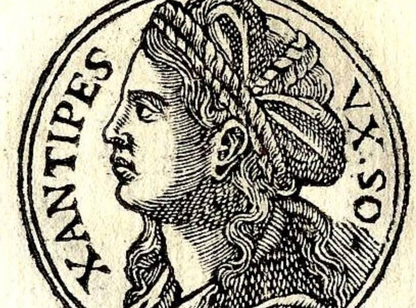 Xantippe, Promptuarii Iconum Insigniorum (1553) gepubliceerd door Guillaume Rouillé