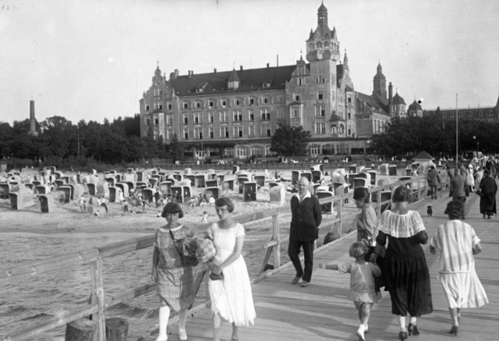 Kolberg, tegenwoordig een Poolse stad, in 1930