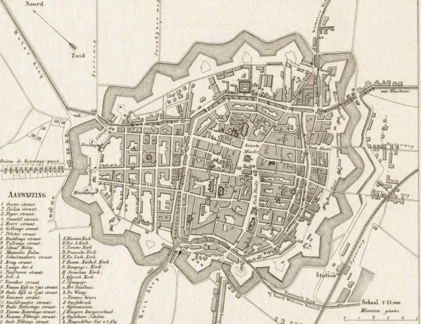De stad Groningen in 1866 - J. Kuyper