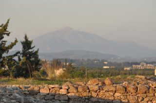 De berg Kasios, gezien vanuit Ugarit