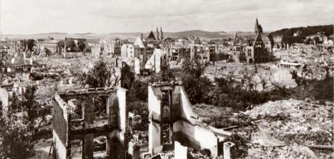 Nordhausen na het tweedaagse bombardement