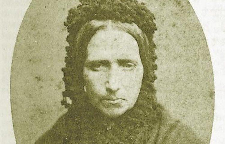 Portretfoto van Goeie Mie. Genomen in het Huis van Arrest , 1883