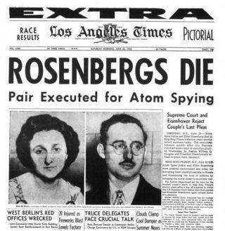 Executie Rosenbergs, voorpagina Los Angeles Times (20-6-1953)