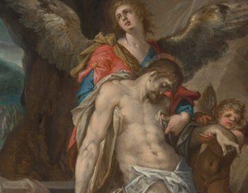 Engelen dragen het lichaam van Christus (Engelenpietà), ca. 1587 - Bartholomeus Spranger (Rijksmuseum Amsterdam)