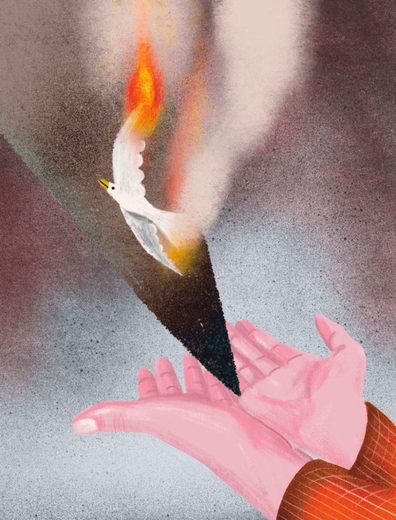 Illustratie Trui Chielens - Bron: Nulpunt 1945