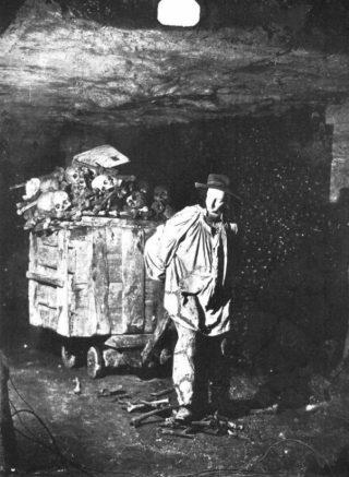 Aanleg van de catacomben van Prijs. Foto door Felix Nadar, ca. 1861
