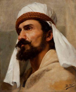 Portret van een bedoeïen door Bertha Worms
