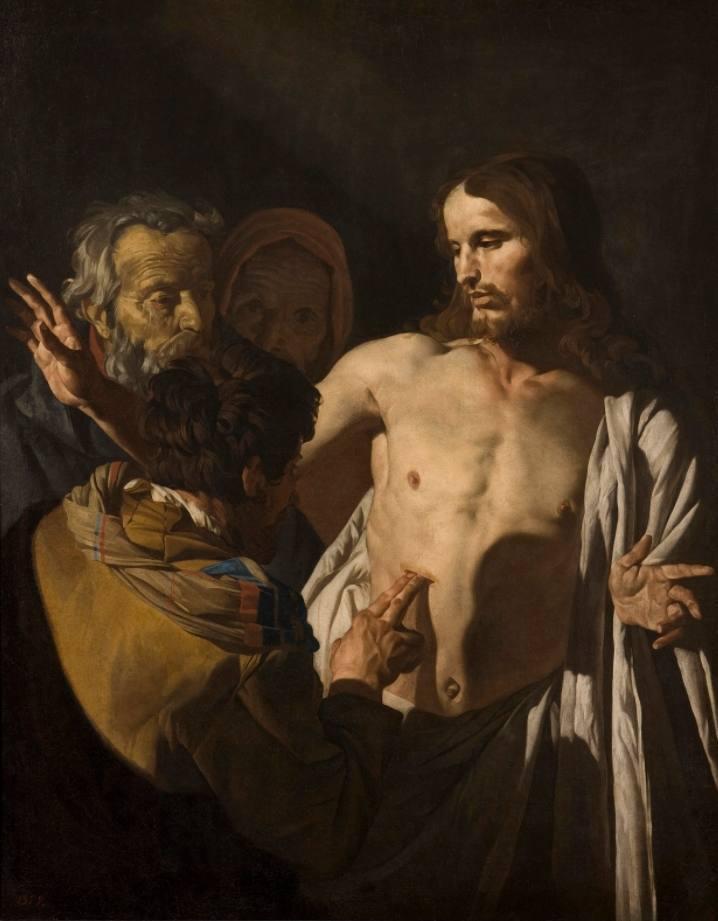 Matthias Stomer, De ongelovige Thomas (c.1645)
