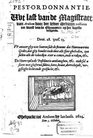 Pestordonnantie voor Arnhem uit 1614