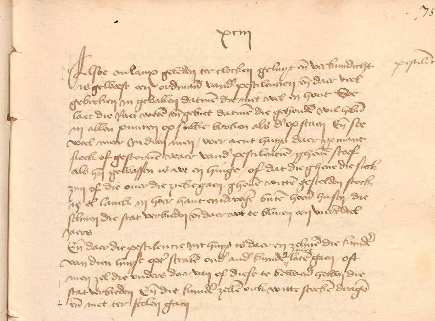 """In Utrecht klaagt het stadsbestuur in 1493 dat de bevolking zich niet langer aan de """"lockdown"""" houdt: """"Ende daer die pestilentie in 't huys is, daer en zel men die kynderen van dien huyse op ter straten onder ander kynder niet laten gaen … ende niet ter scole gaen"""""""