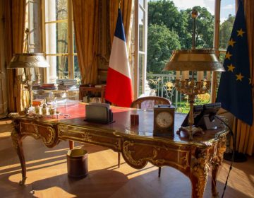 De Salon Doré (gouden kamer) in het Élysée. De officiële werkkamer van de Franse president (CC BY-SA 4.0 - Dorian