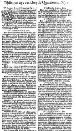 Krantenbericht uit 1629