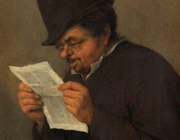 Een lezende man - Adriaen van Ostade, ca. 1647