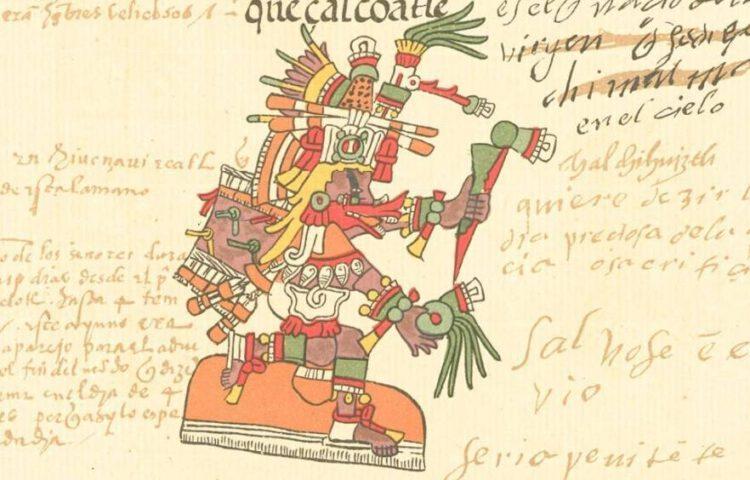 Afbeelding van Quetzalcóatl in de Codex Telleriano-Remensis