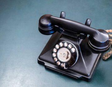Voorbeeld van een bakelieten telefoon