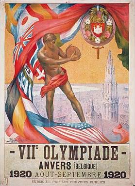 Olympische poster Antwerpen 1920