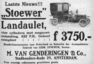 Autoreclame uit 1908