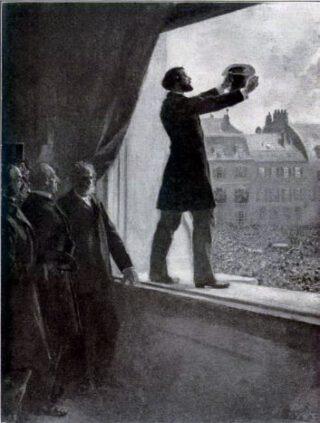 Léon Gambetta kondigt de Franse republiek aan, Howard Pyle