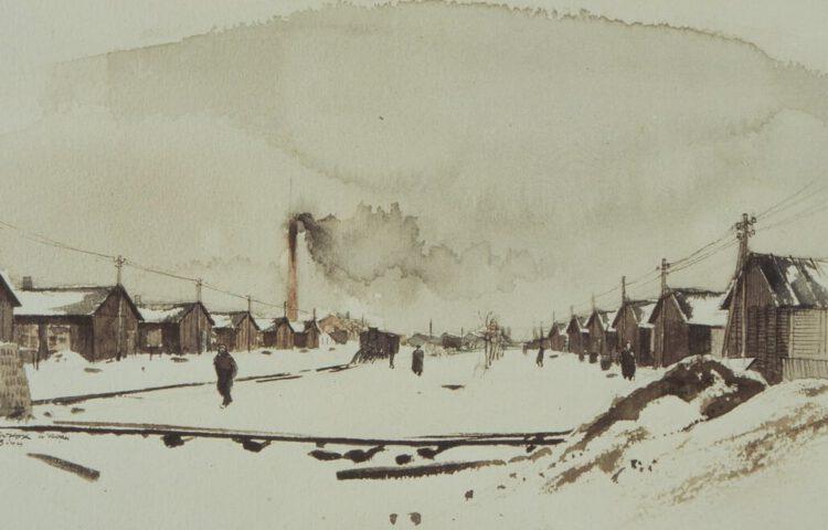 Leo Kok, Een winterlandschap van Kamp Westerbork