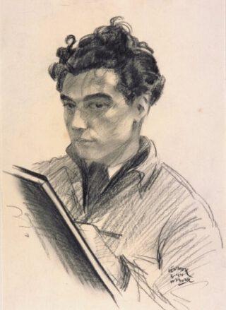 Leo Kok, zelfportret uit 1944