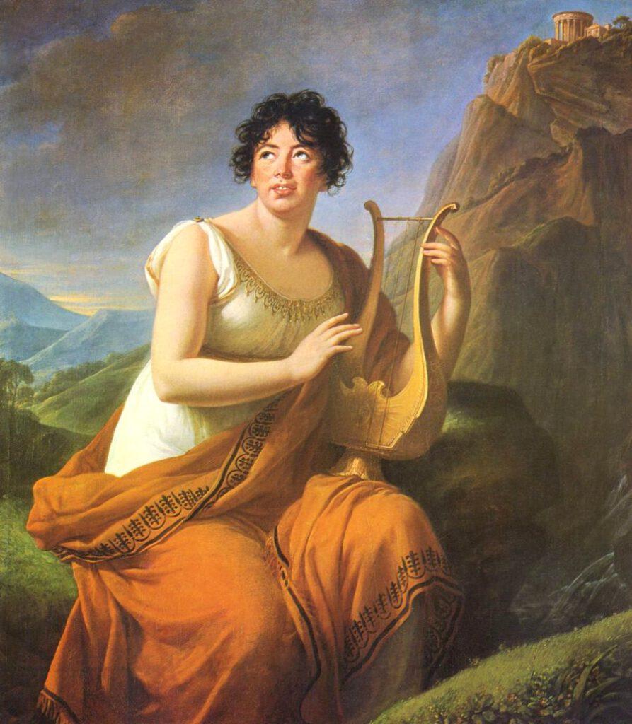 Madame de Staël als Corinne, geschilderd door Elisabeth Vigée-Lebrun in 1808