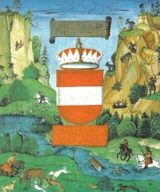 Detail van het voorblad van een kopie van het Privilegium maius uit 1512