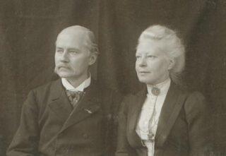 Jacques van Marken en zijn echtgenote Agneta, 1890