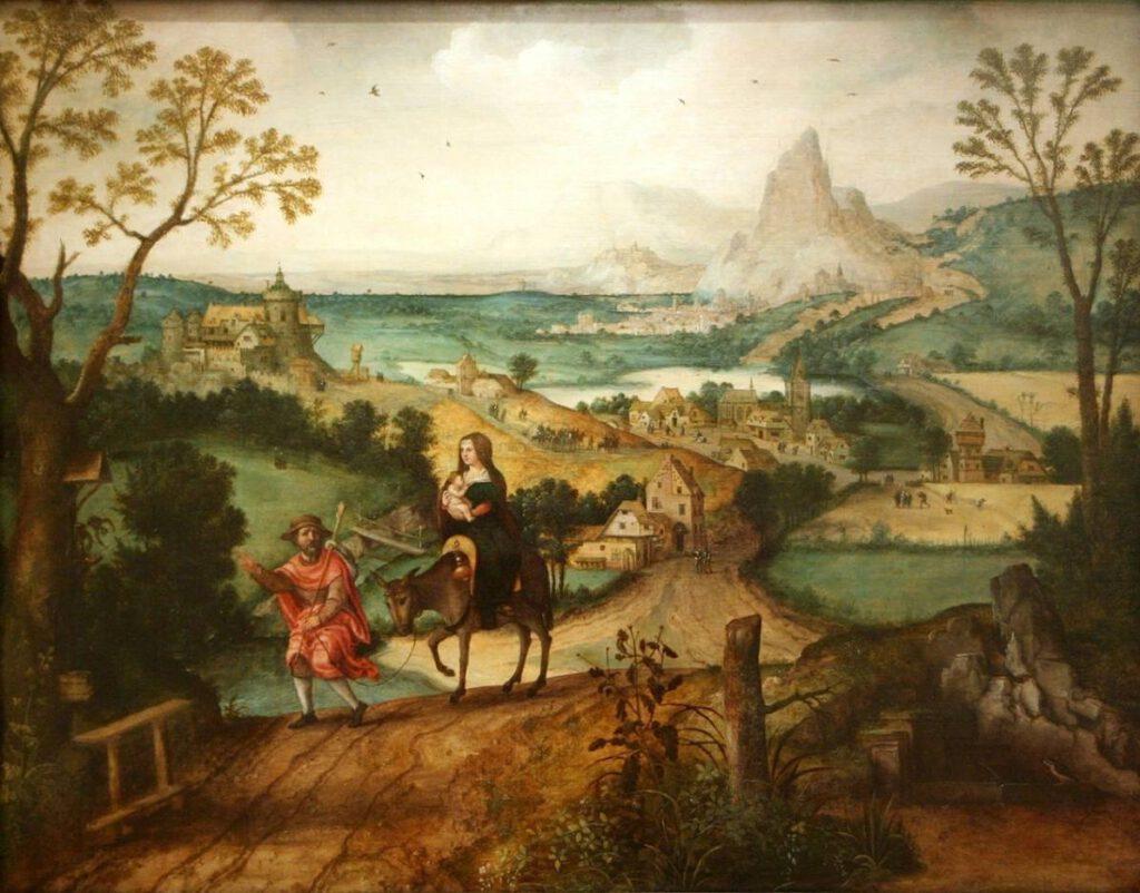 Lucas Gassel, Vlucht naar Egypte, 1542