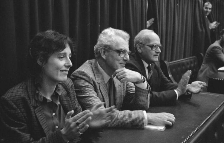 CPN-fractie in de Tweede Kamer (1981): v.l.n.r. Ina Brouwer, Marcus Bakker en Joop Wolff