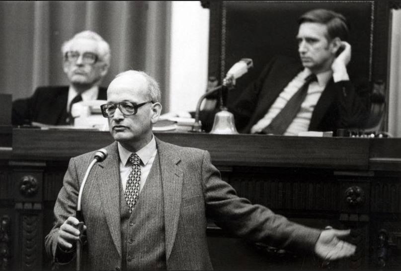 Joop Wolff in de Tweede Kamer, 1980