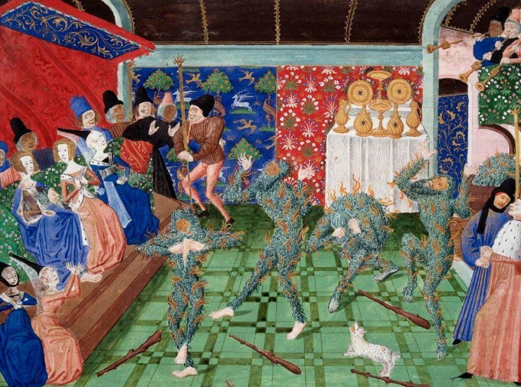 Het Bal des Ardents door Philippe de Mazerolles