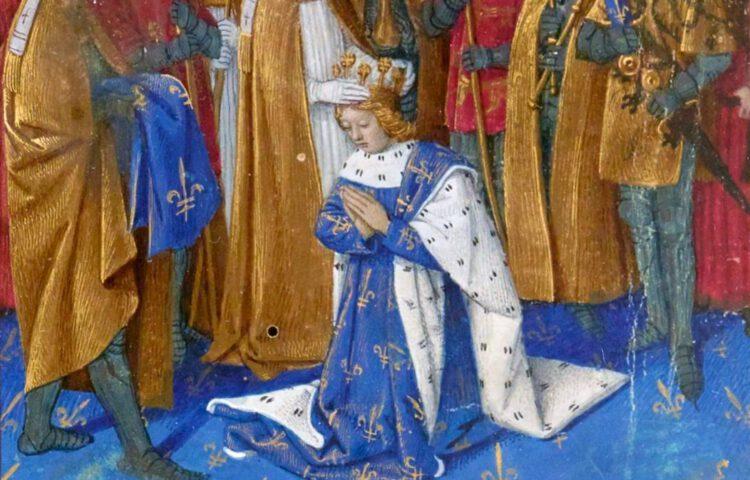 Kroning van Karel VI van Frankrijk - Jean Fouquet