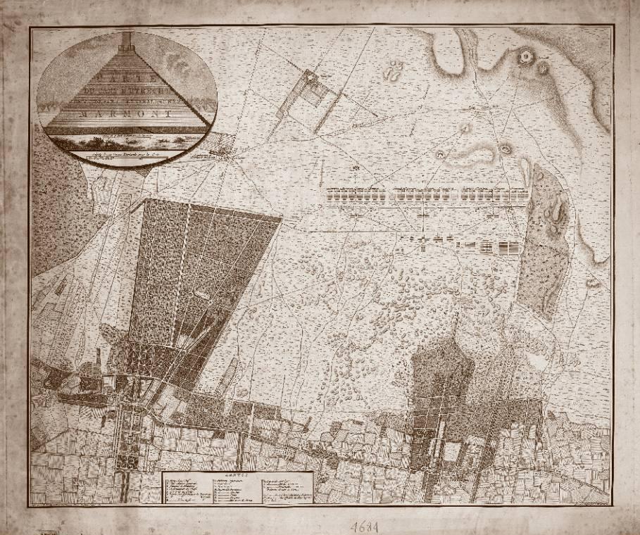 Kaart met het legerkamp bij Zeist, 1805, Cornelis van Baarsel, 1805 (Rijksmuseum)