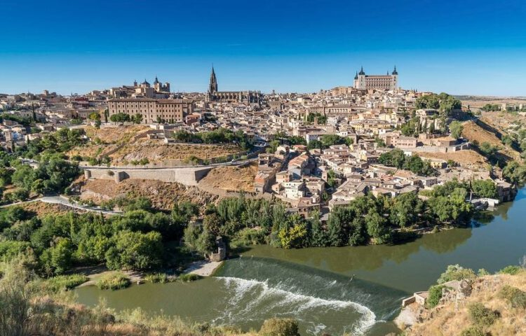 Zicht op de stad Toledo