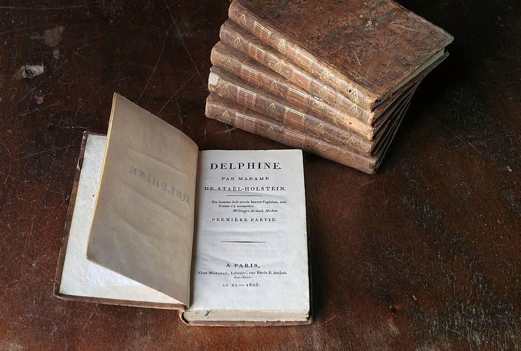 Eerste druk van 'Delphine', roman van De Staël, 1803
