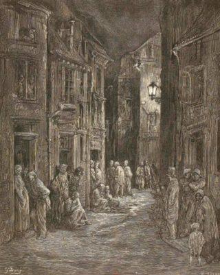 Sloppenwijk in Londen - Bluegate Fields, 1872 - Gustave Doré