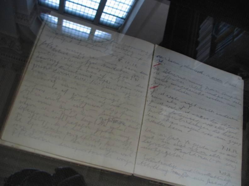 Dagboekaantekeningen van Ludwig Wittgenstein uit 1914