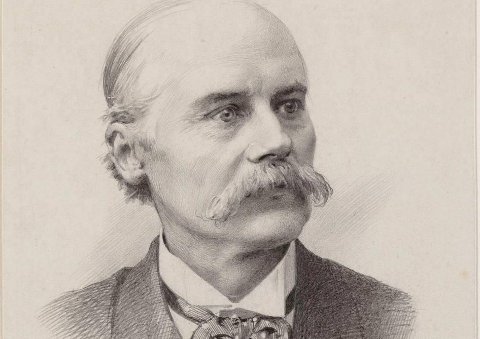 Jacques van Marken - Tekening door Johan Braakensiek