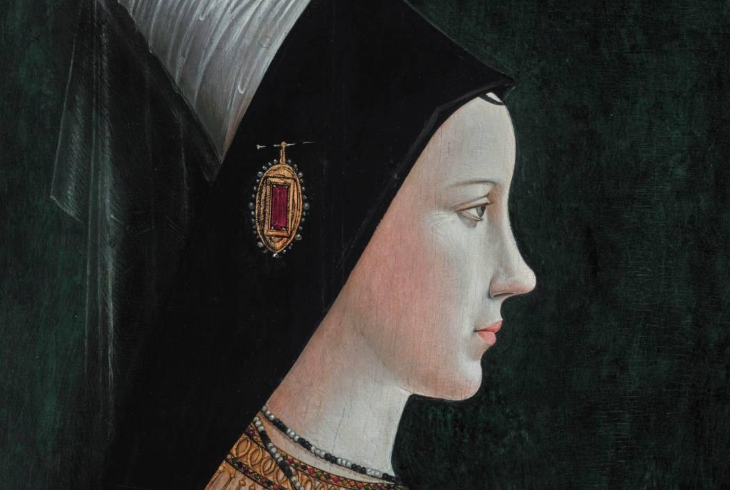 Maria van Bourgondië - Portret door Michael Pacher