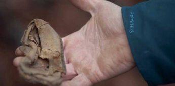 Een archeoloog op zoek naar sporen van de Holocaust