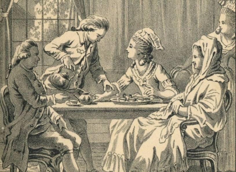 Tekening uit de achtste druk 'Sara Burgerhart', 1891