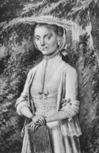 Portret van Betje Wolff omstreeks 1754