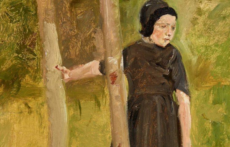 Max Liebermann, Kind onder bomen (studie voor Spelende kinderen), 1882 - detail