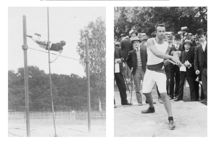 Foto's van de Olympische Spelen van 1900. Foto Jules Beau. Uit: De eerste sportfotograaf.
