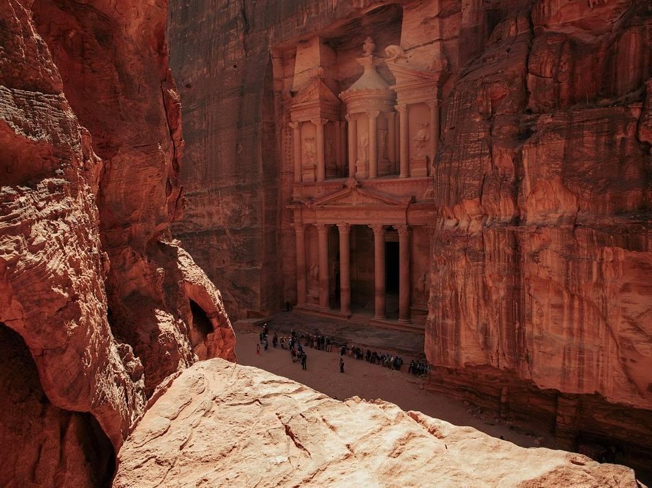 Petra, de historische hoofdstad van de Nabateeërs in het huidige Jordanië