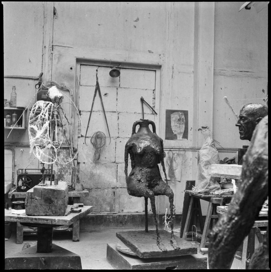 Het atelier van Germaine Richier in Parijs, 1994  - Foto: Piet Esser