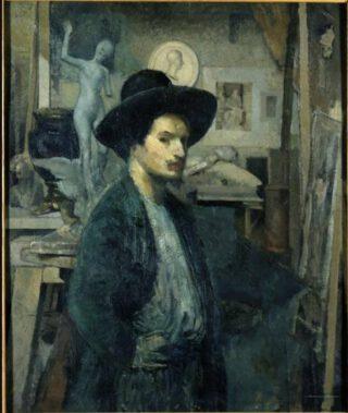 Zelfportret van Émile-Antoine Bourdelle