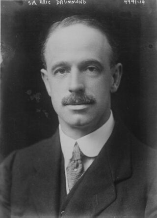 Eric Drummond rond 1918