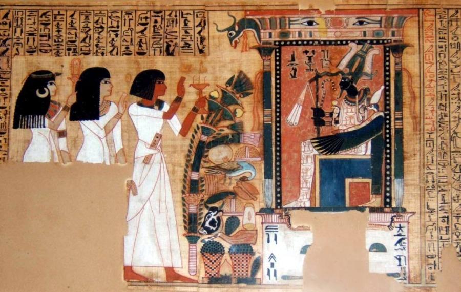 Fragment uit het dodenboek van de klerk Nebqed, ca. 1300 v.Chr.